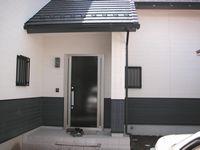 外断熱住宅 平屋 玄関ドア