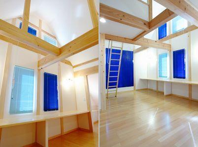 2階 勾配天井 大空間